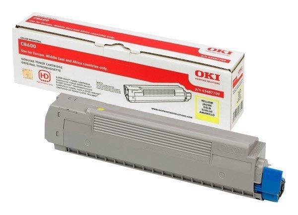Toner oryginalny OKI 43487709 yellow do OKI C8600 / C8600n / C8800 / C8800n na 6 tys. str.
