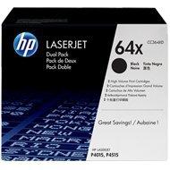 Zestaw dwóch tonerów HP 64X do LaserJet P4015/4515 | 2x 24 000 str. | black
