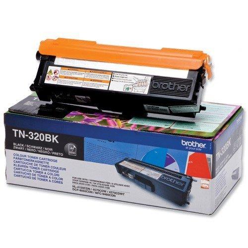 Toner oryginalny Brother TN320BK black do  HL-4140CN / HL-4150CDN / HL-4570CDW / DCP-9055CDN / DCP-9270CDN / MFC-9460CDN  na 2,5 tys. str. TN-320BK