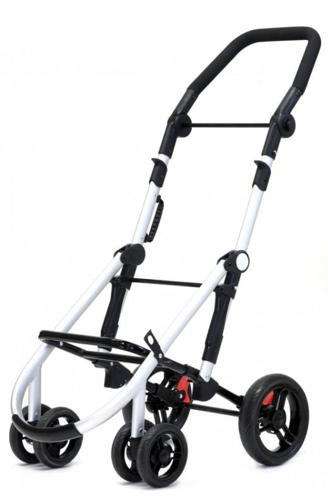 Wózek na zakupy Lett460 w kolorze Red txt, firmy Carlett