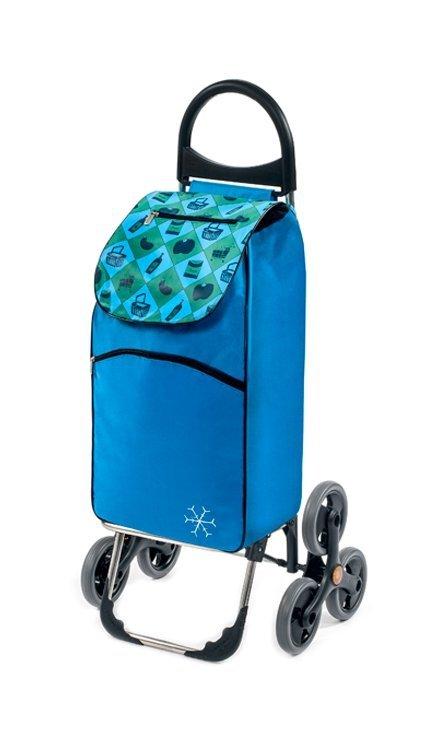 Wózek na zakupy Parigi niebieski, firmy Aurora
