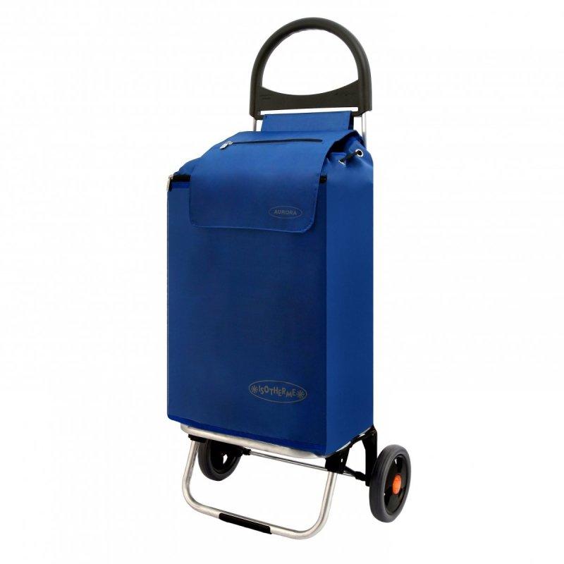 Wózek na zakupy Rio Thermo niebieski, firmy Aurora