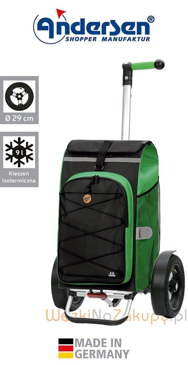 Wózek turystyczny Tura 136 Fado 2.0 zielony, firmy Andersen