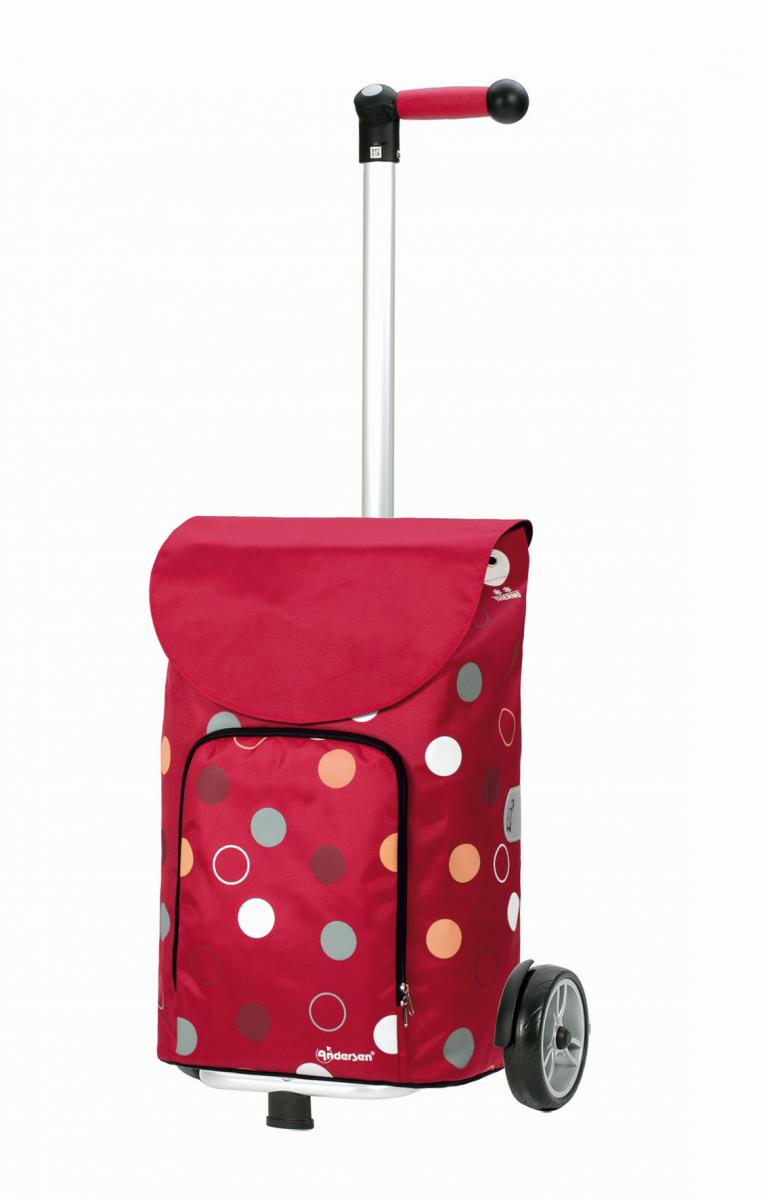 Wózek na zakupy Unus Kira czerwony, firmy Andersen