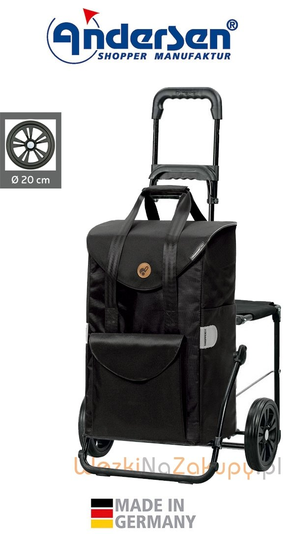 Wózek na zakupy Komfort Senta czarny, firmy Andersen