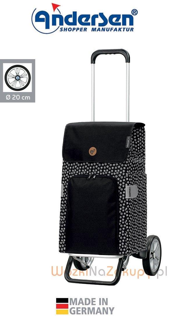 Wózek na zakupy Alu Star Mara czarny, firmy Andersen