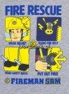 Koszulka Strażak Sam Fire Rescue szara infografika