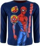 Bluzka Spiderman z lampasem granatowa