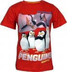 T-shirt Pingwiny z Madagaskaru czerwony