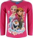 Bluzka Frozen Elsa, Anna i Olaf różowa