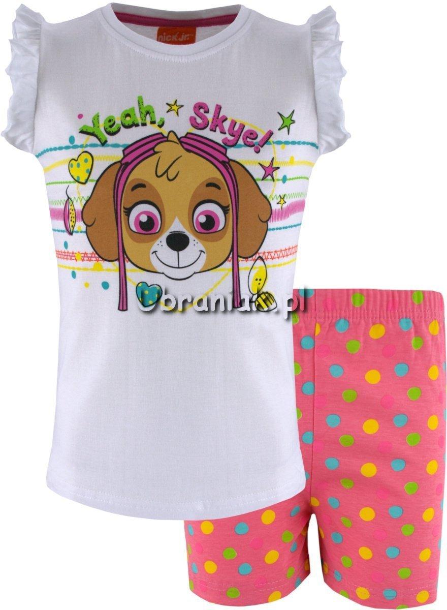 dd02c0bd541ff8 Piżama Psi Patrol biało-różowa dla dziewczynki,rozmiary 98-128 ...