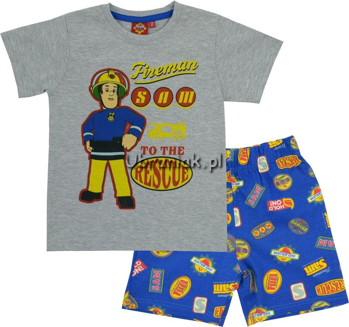 2152f29dd6763f Piżama Strażak Sam szara koszulka, rozmiary 98-128 ubrania dla dzieci