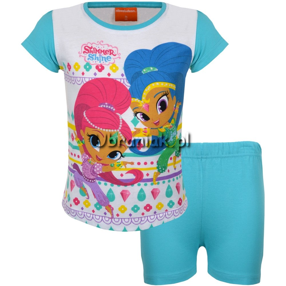 Piżama Shimmer i Shine niebieska