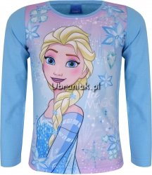 Bluzka Kraina Lodu Królowa Elsa niebieska