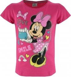 T-shirt Myszka Minnie Love różowy