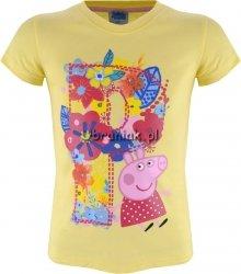 T-shirt Świnka Peppa kwiaty żółty