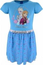 Sukienka Kraina Lodu niebieska z tiulem