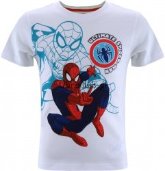 T-shirt Ultimate Spiderman biały