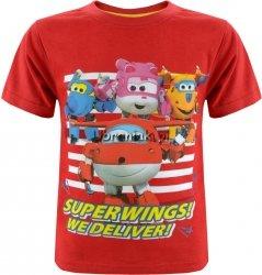 T-shirt Super Wings Jettek czerwony