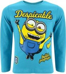 Bluzka Minionki Despicable niebieska