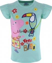 Bluzka Świnka Peppa Bird zielona