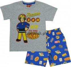 Piżama Strażak Sam szara koszulka