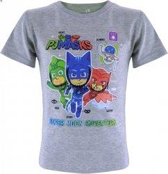 Koszulka T-shirt PJ Masks Pidżamersi szary