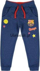Spodnie Dresowe chłopięce FC Barcelona niebieskie