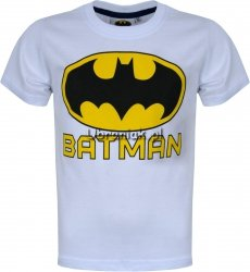 T-shirt Batman Logo biały