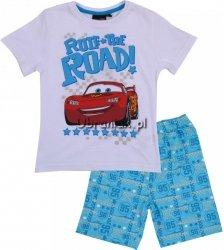 Piżama letnia Auta Cars biała
