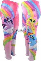 Ocieplane legginsy Kucyki Pony kolorowe