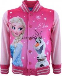 Bluza Bejsbolówka Frozen Elza i Olaf różowa