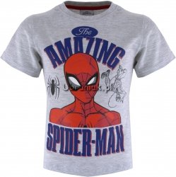 T-shirt Spiderman Amazing szary