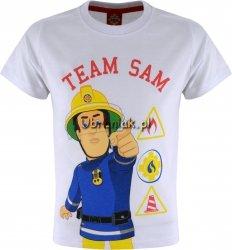 T-shirt Strażak Sam Team biały