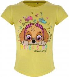 T-shirt Psi Patrol Skye Dreaming żółty