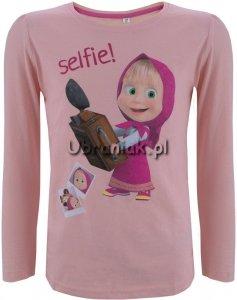 Bluzka Masza i Niedźwiedz Selfie! jasny róż