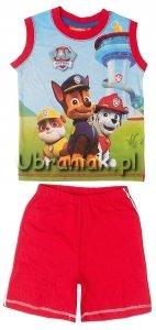 Komplet t-shirt i spodenki Psi Patrol czerwony