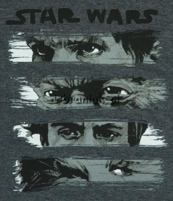 T-shirt Star Wars Ostatni Jedi grafitowy postacie oczy