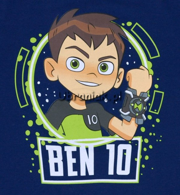 Koszulka T-shirt Ben 10 niebieska nadruk