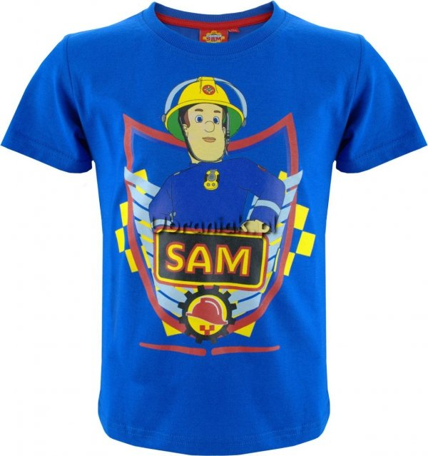 Koszulka Strażak Sam niebieska z bohaterem SAM
