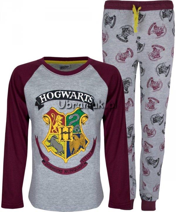 Piżama Harry Potter Hogwarts szara