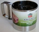 Przesiewacz stalowy do mąki - Kubek -  350 g KingHoff