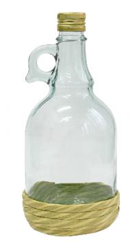 Butelka Gallone 1L w oplocie, z zakrętką