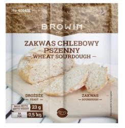 Zakwas chlebowy pszenny z drożdżami - 23 g