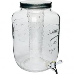 Słój 7,6 L Cytrynada z kranem i filtrem - biały
