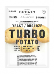 Drożdże Turbo Potato na 25 L - 25 g