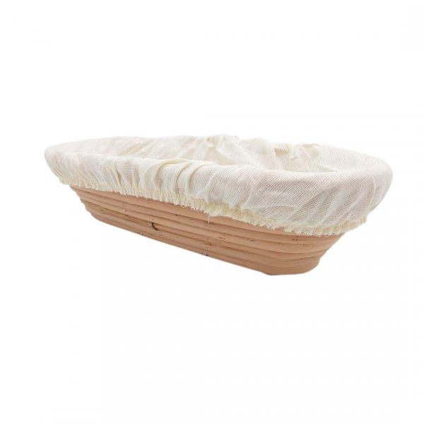 Podłużny koszyk do wyrastania chleba 0,6 kg + pokrowiec