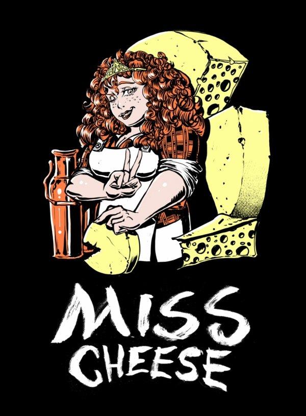 Damska koszulka - Miss Cheese roz. XXL