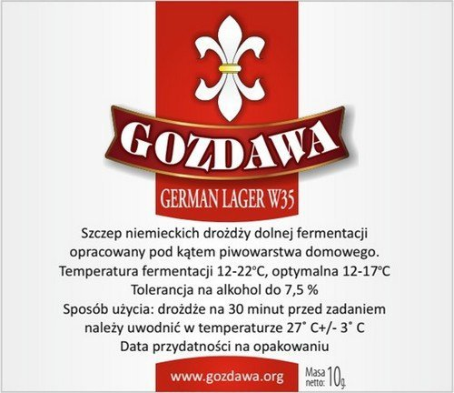 DROŻDŻE DO PIWA GERMAN LAGER W35