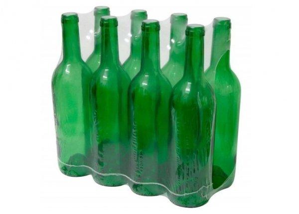 Butelka na wino 0,75l zielona - zgrzewka 8szt